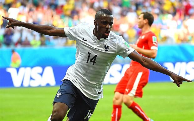 Blaise Matuidi celebrates in the France vs Switzerland clash Image Copyright: AFP