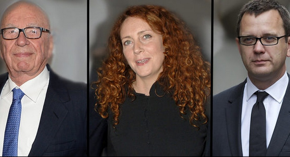 Rupert Murdoch, Rebekah Brooks and Andy Coulson  image - ABCTV