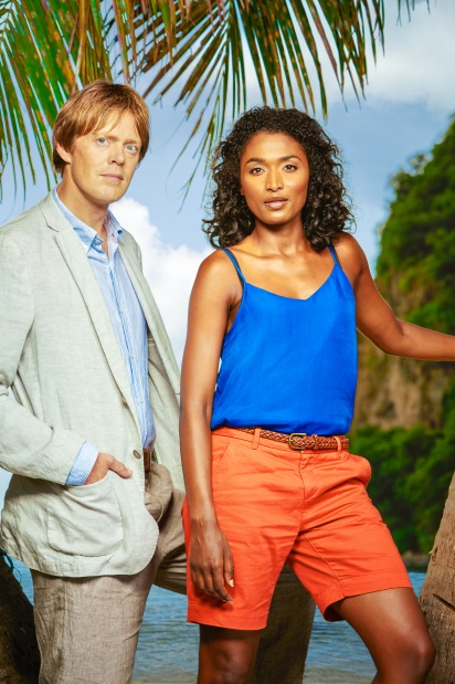Kris Marshall and DI Humphrey Goodman star in Death In Paradise on BBC First image - supplied
