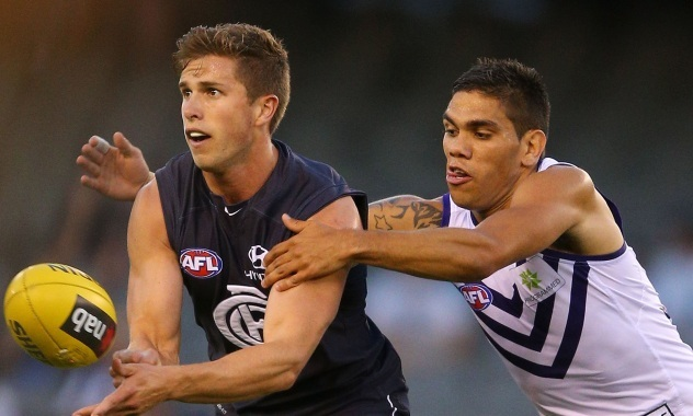 The Fremantle Dockers take on Carlton when Thursday Night Football returns tonight. image copyright - Getty