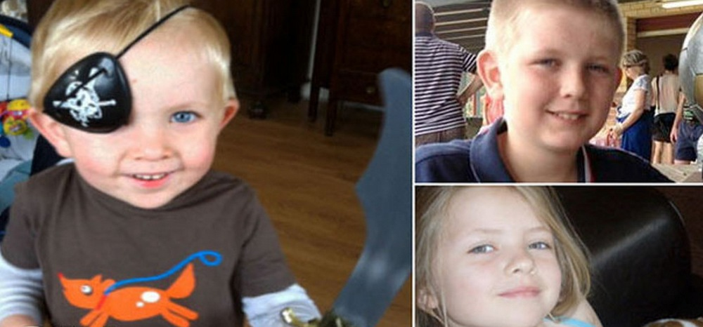 Three-year-old Connor, nine-year-old Saoirse and 11 year old Soren. image - Seven Network