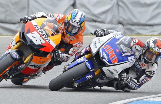 Pedrosa vs. Lorenzo in Brno image copyright - AP