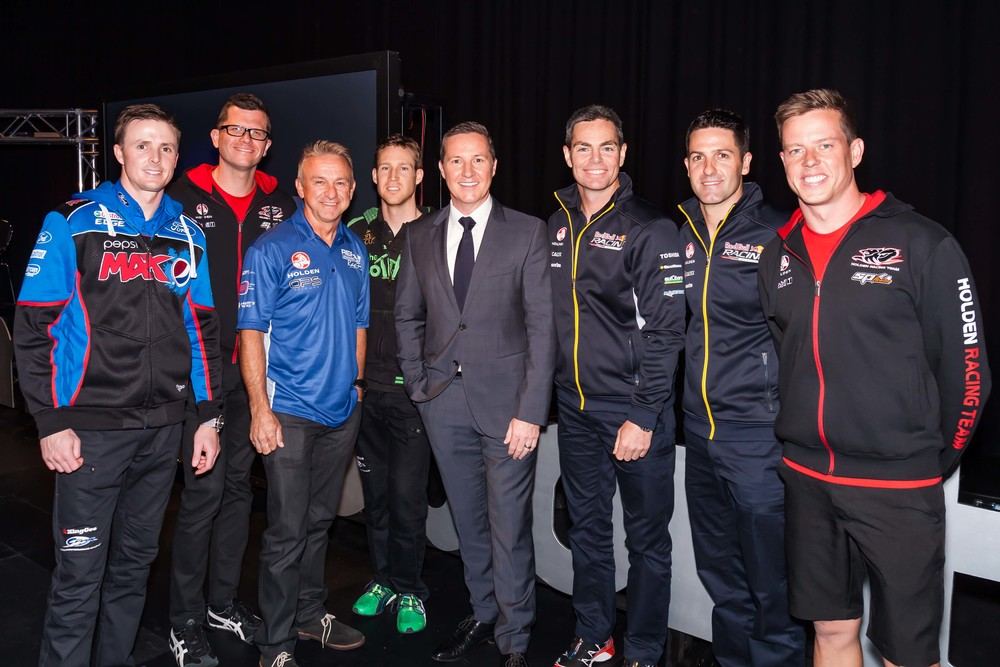 Matt White with the stars of V8 Supercars image - supplied