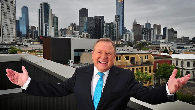 Nine's Melbourne newsreader Peter Hitchener. His massive ratings play a big part in Nine winning nationally.  image source - News Corp