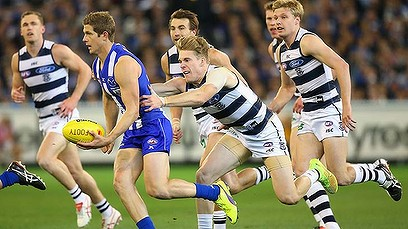 The Kangaroo's were to strong for the Cats, Friday night on Seven. image source - theage.com.au