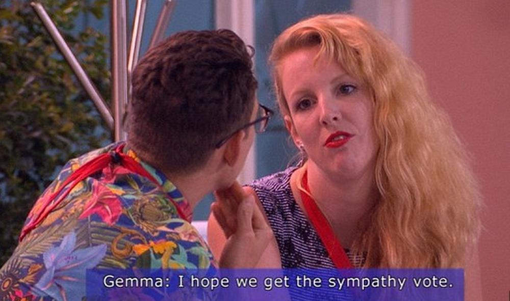 Jake and Gemma hopeful of surviving this week. image copyright - Nine Network