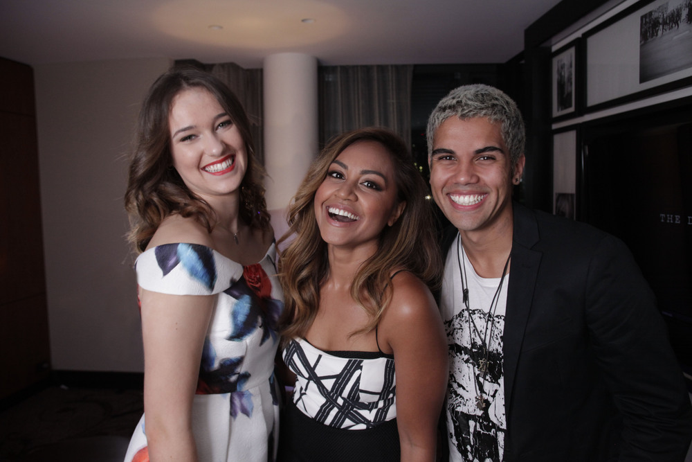 Georgia McCarthy,     Jessica Mauboy and Andre Nookadu ready for Junior Eurovision.  image - supplied/SBS