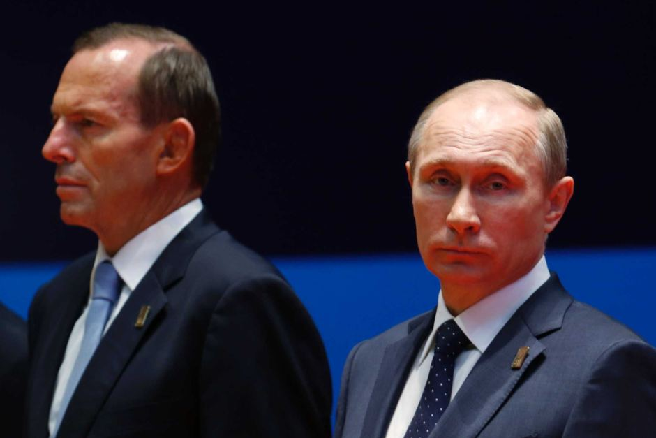 Plenty of focus will be on Abbott and Putin this weekend. image copyright - Reuters