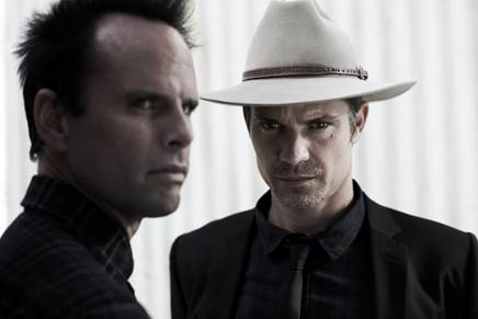 Walton Goggins and Timothy Olyphant in Justified image - supplied/FXAustralia