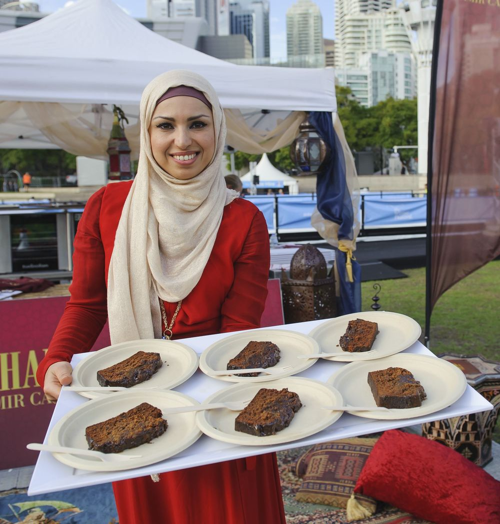 Sahar Awdi's Tamir Cake with Sticky Toffee Sauce  image - supplied/Ten