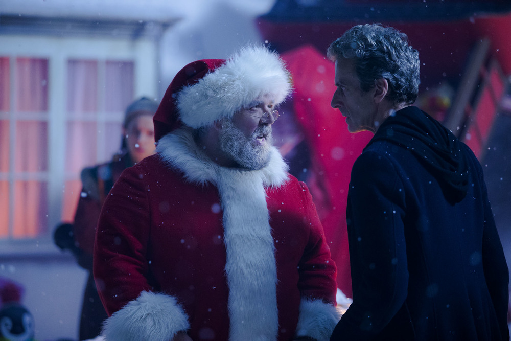 Nick Frost and Peter Capaldi star in the 2014 Doctor Who Christmas special. image - ABC Publicity