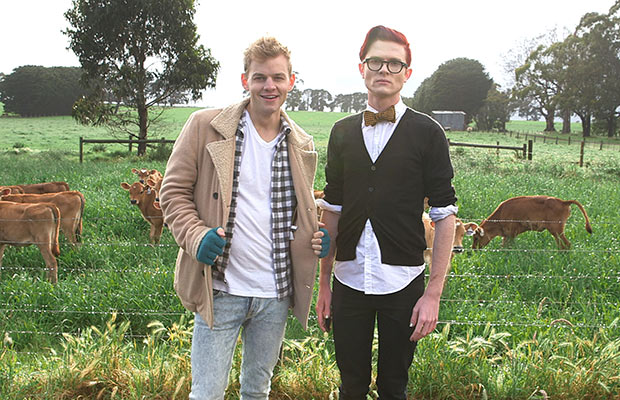 Gaycrashers withJoel Creasey and Rhys Nicholson. A previous Opening Shot winner. image - ABCTV