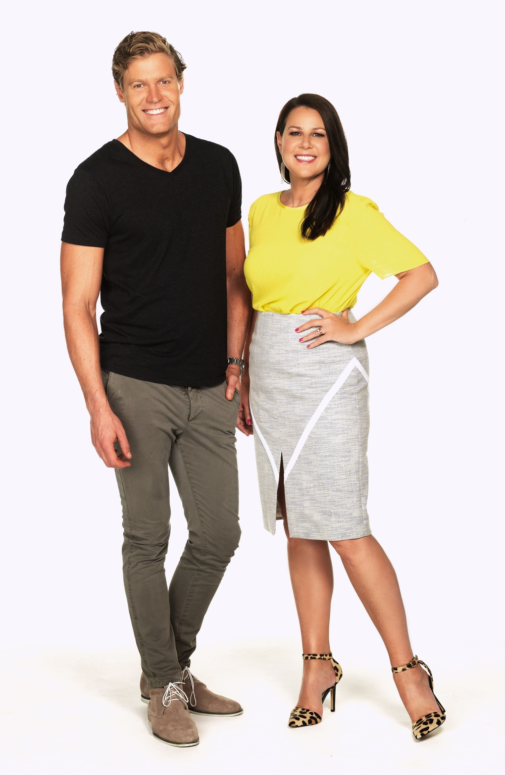 Hosts: Chris Brown and Julia Morris image - supplied/Ten