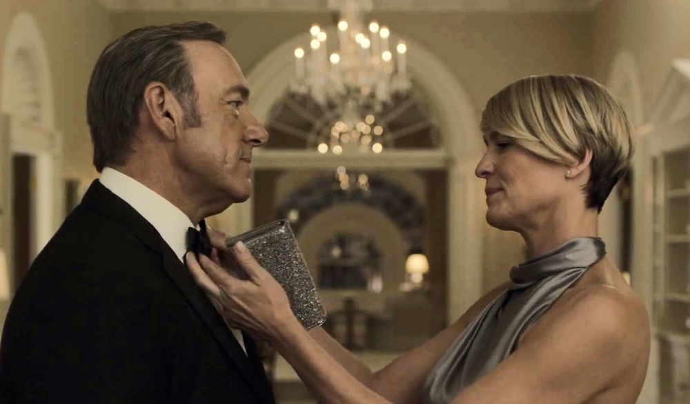 Kevin Spacey and Robin Wright return as Frank and Claire Underwood in House of Cards season 3.  image copyright - Netflix