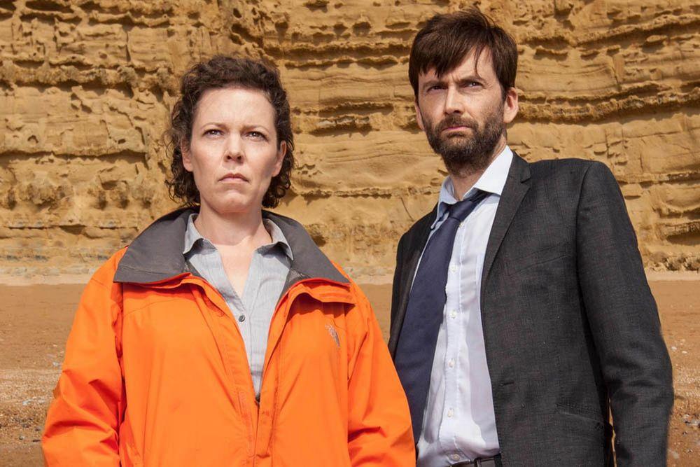 Olivia Colman and David Tennant return in a new season of Broadchurch  image source - mirror.co.uk