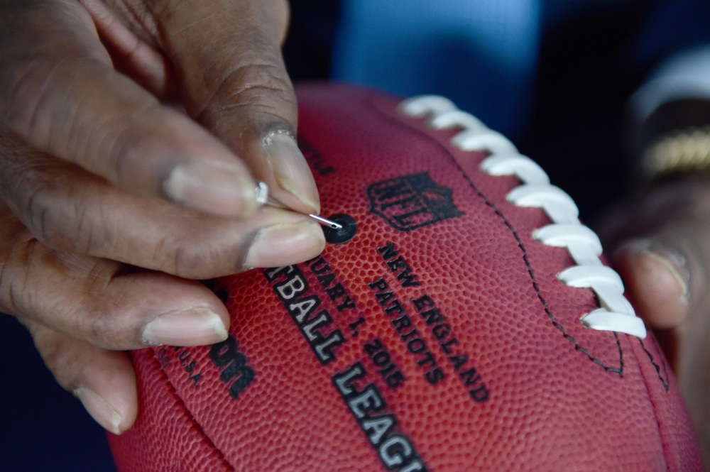 No doubt the ball pressures will be carefully examined beforeSuper Bowl XLIX. image - supplied/ESPN