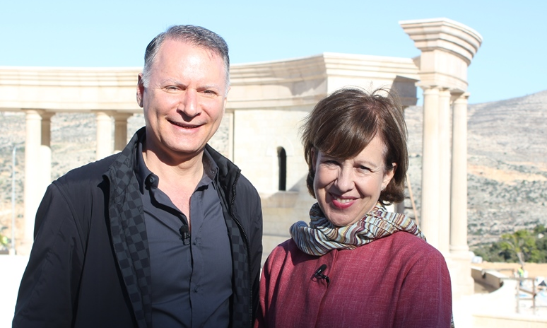 American-Palestinian multi-millionaire, Bashar Masri with the BBC's Lyse Doucet.  image - supplied/BBC WorldwideANZ