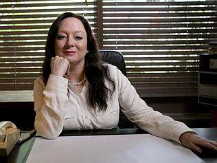Actress Mandy McElhinney playing the role of Gina Rinehart in Nine's House of Hancock.  image - Nine Network