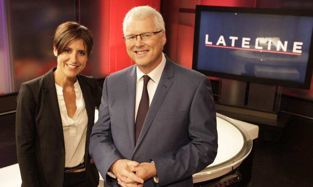 Lateline hosts Emma Alberici and Tony Jones. image - supplied/ABC