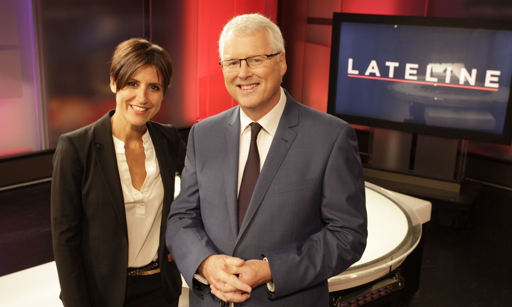 Emma Alberici and Tony Jones host Lateline on ABC News 24  image - supplied/ABC