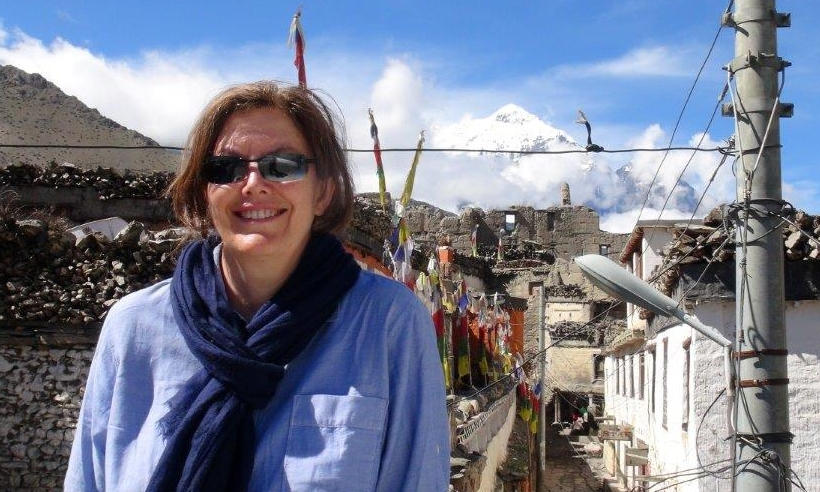 New Foreign Correspondent EP Marianne Leitch on assignment in Upper Mustang, Nepal.  image - Supplied/ABC Publicity