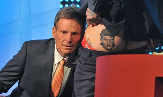 Has Dane Swan still got that Sam Newman tattoo? image copyright - Nine Network