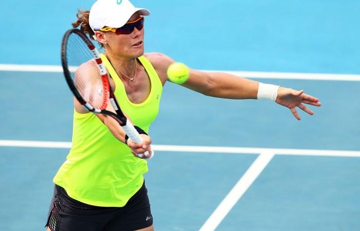 Sam Stosur will lead Australia's Fed Cup team this weekend. image source - tennis.com.au