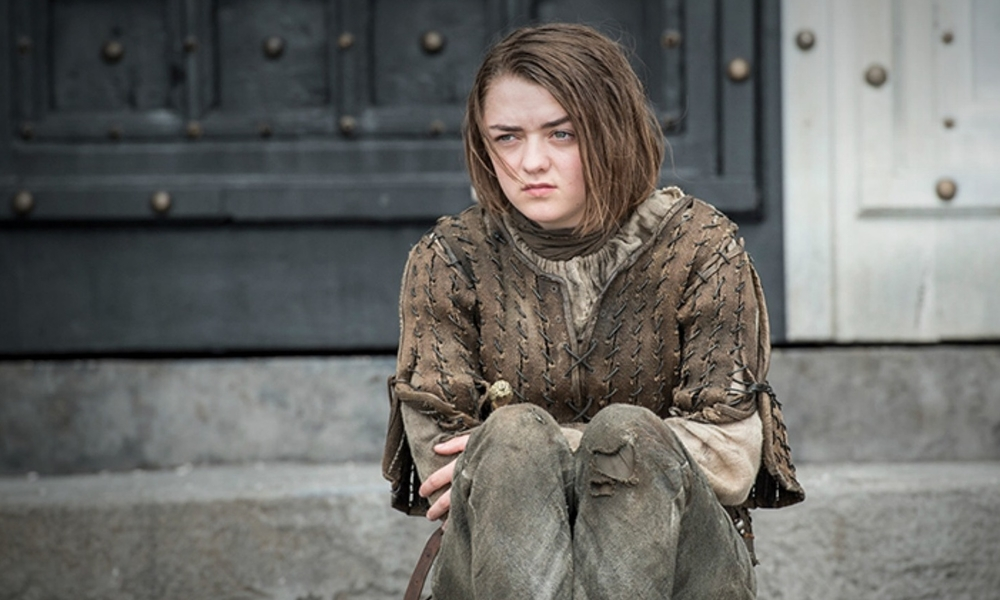 Arya Stark at the House of Black and White  image copyright - HBO