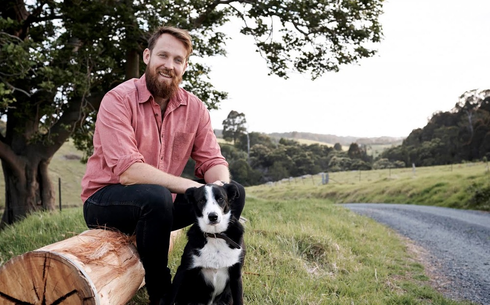 Paul West and Digger returnwith season 3 of River Cottage Australia. image copyright -Nicholas Wilson / Foxtel