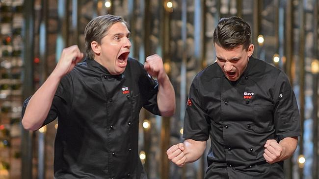 Winners are Grinners! Will and Steve win MKR 2015 image copyright - Seven Network