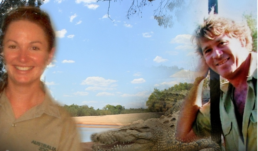 Nicole Byrne and Steve Irwin  image - supplied/ABC
