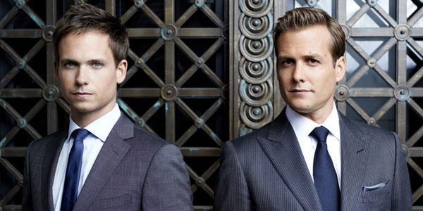 Gabriel Macht   and   Patrick J. Adams     return as Harvey Specter and Michael Ross  image - Universal