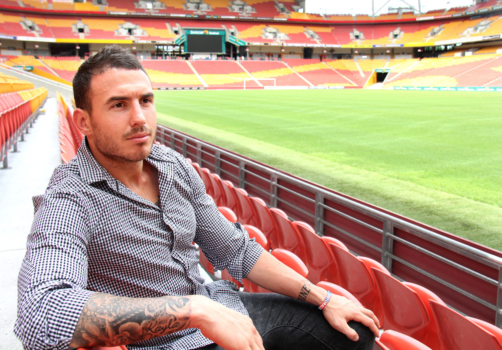 Darius Boyd at Suncorp Stadium. image source - ABCTV