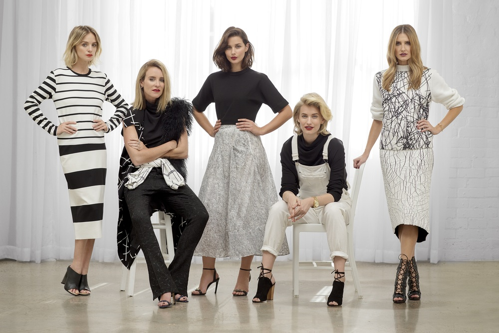 The cast of Fashion Bloggers on E! image - supplied/E!