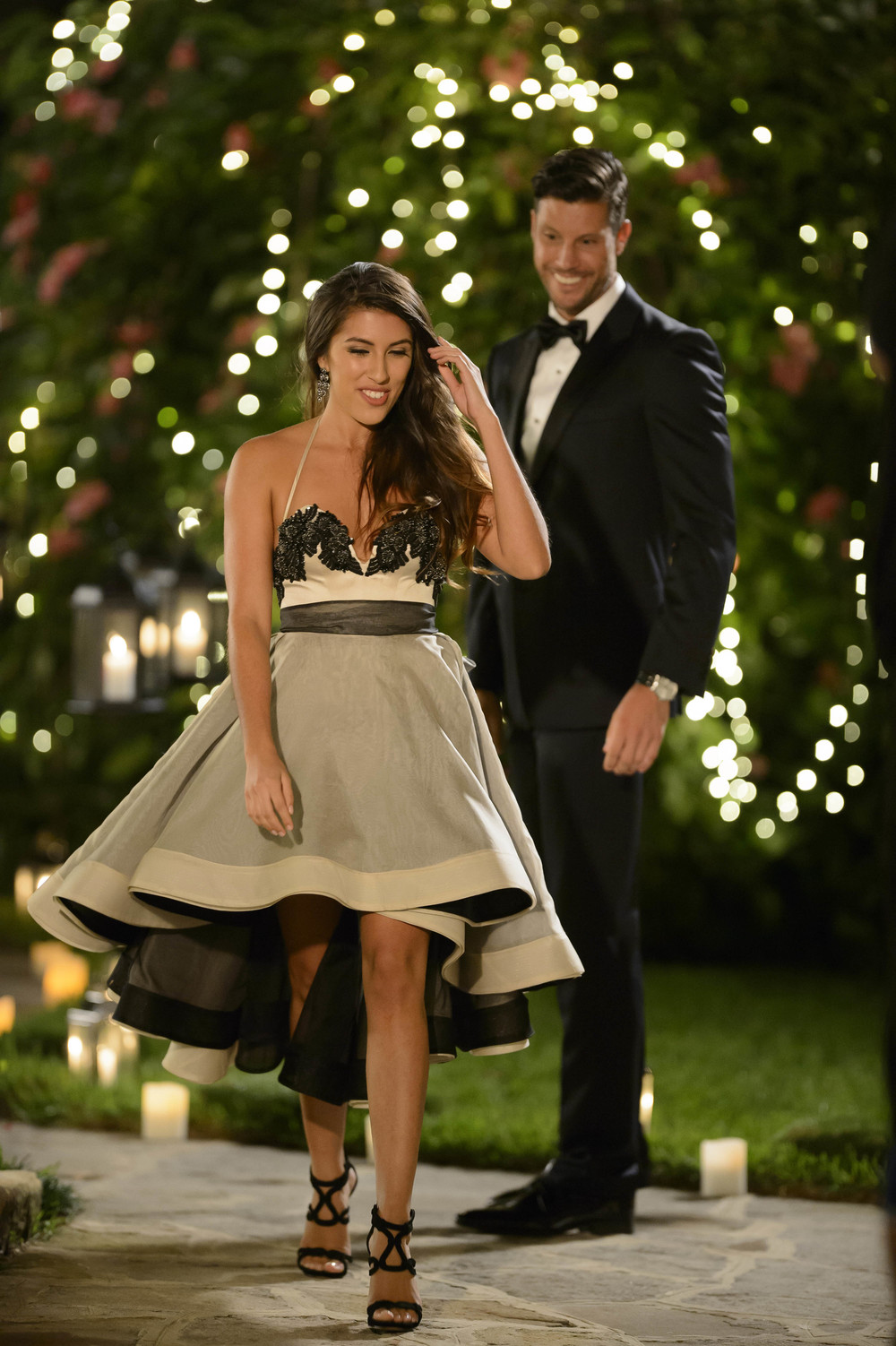 Jasmin and Sam Wood in The Bachelor  image - supplied/Ten Network