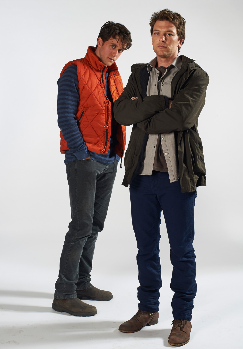 Dan Spielman as Ned Banks with Ashley Zukerman as Jesse Banks return in THE CODE image - supplied/ABCTV