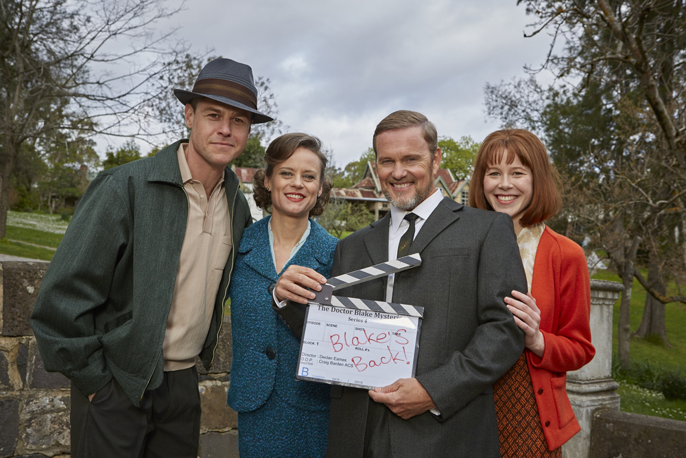 Rodger Corser, Nadine Garner, Craig McLachlan and Anna McGahan image - supplied/ABCTV