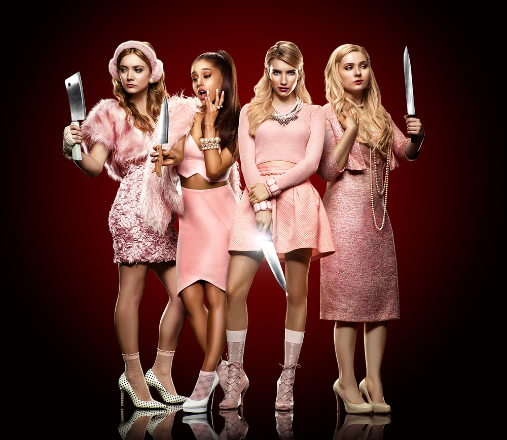 Scream Queens - Billie Lourd, Ariana Grande, Emma Roberts, and Abigail Breslin image - supplied/Ten
