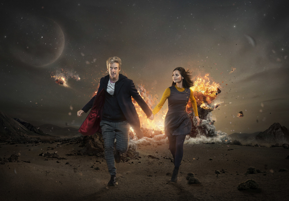 Peter Capaldi & Jenna Colman star in S09 of DOCTOR WHO  Image - supplied/ABC TV