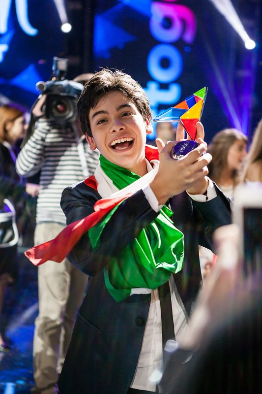 Junior Eurovision 2014 winner Vincenzo Cantiello Image - supplied/SBS