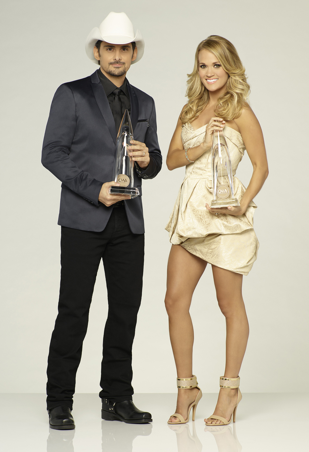Hosts - Brad Paisley and Carrie Underwood  image - supplied/Foxtel