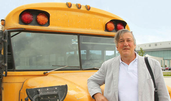 Stephen Fry in Central America  image source - ITV