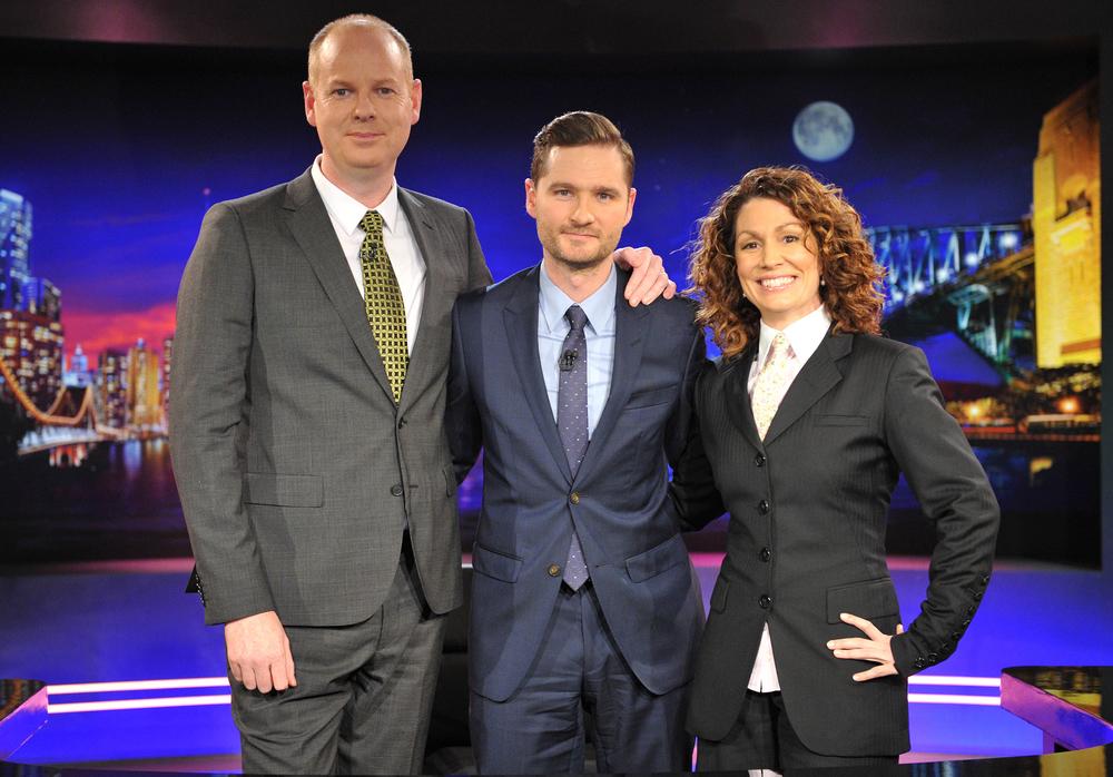 Tom Gleeson, Charlie Pickering, Kitty Flanagan  Image - ABC