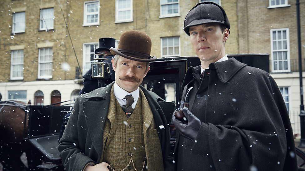 Martin Freeman and  Benedict Cumberbatch head back in time for  Sherlock - The Abominable Bride.  image - supplied/Stan