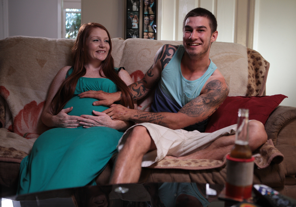 22-year old Jared from Mt Druitt is head-over-heels in love with his pregnant bride-to-be, Renee. Are they ready for marriage? Are they ready for parenthood?  image - supplied/ABCTV