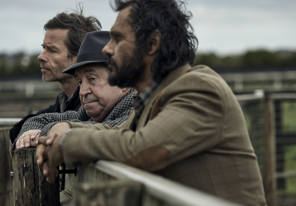 Guy Pearce, Roy Billings, Aaron Pederson - JACK IRISH  Image - ABC