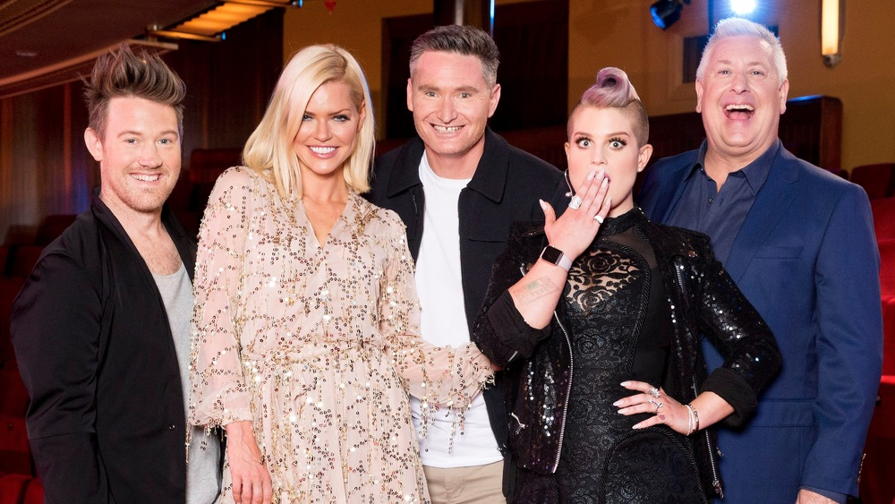 "Eddie Perfect, Sophie Monk, Dave Hughes, Kelly Osbourne and Ian ""Dicko"" Dickson.  image - supplied/Nine Network"
