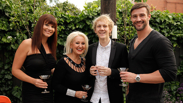 Some of the guests that appeared on Foxtel's Celebrity Come Dine With Me in 2013.  image source - Foxtel