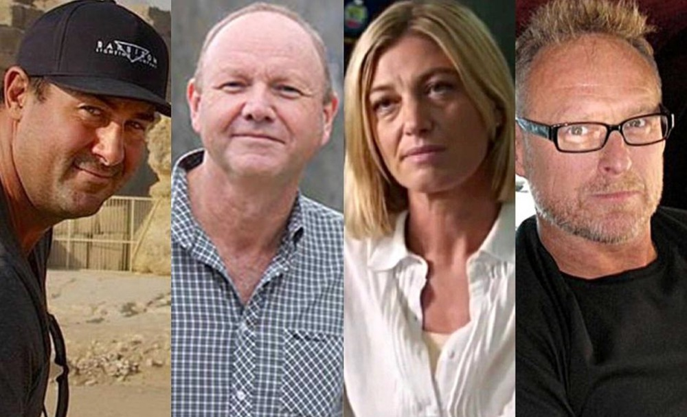 60 Minutes crew that was detained in Lebanon: (from left) cameraman Ben Williamson, producer Stephen Rice, reporter Tara Brown and sound recordist David Ballment. image source - abc.net.au