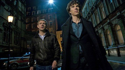 Martin Freeman & Benedict Cumberbath - Sherlock S01 Image - BBC